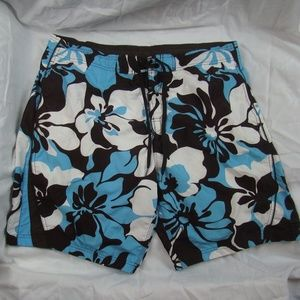 Speedo Swim Trunks Hawaiian Floral Print Large